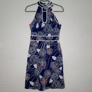 Anthropologie, Tabitha Blue Floral Halter Dress